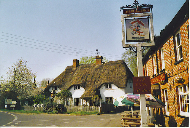 Thatched Cottage and The George Inn, St Mary Bourne.