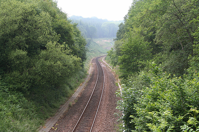 Offwell: the climb to Honiton Tunnel