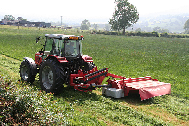 Monkton: mowing at Monkton Barton