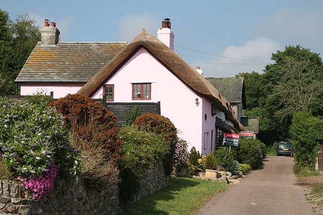 Luppitt: cottages at Beacon