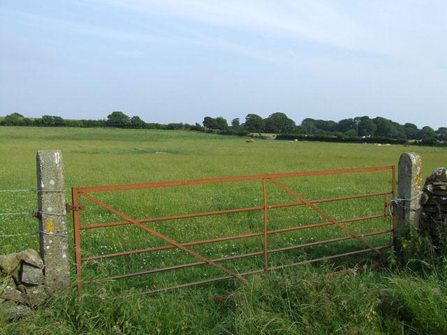 Gate into a field