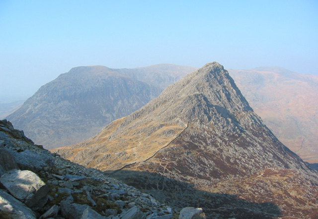 Tryfan with Pen yr Ole Wen behind