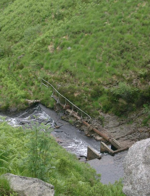 Weir on the Garbh Allt