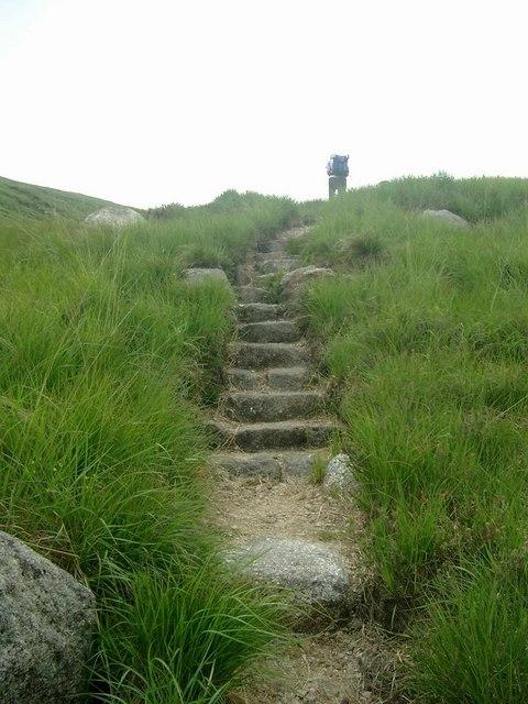 New path by the Garbh Allt