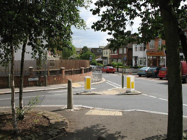 Junction of Long Lane with Church Lane