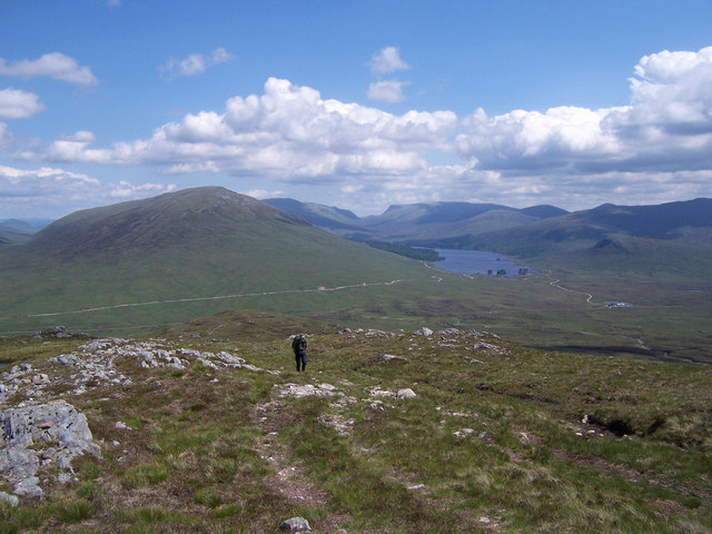Looking down the NW ridge of Beinn a' Bhric