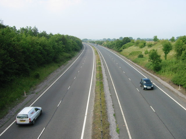 Looking Westbound along the A303.