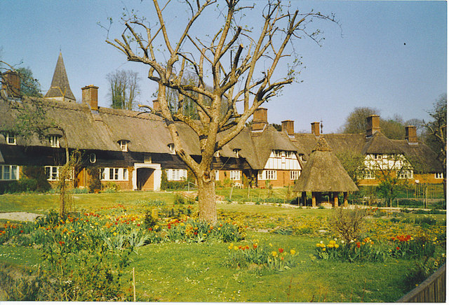 Crescent of Thatched Cottages, Freefolk.