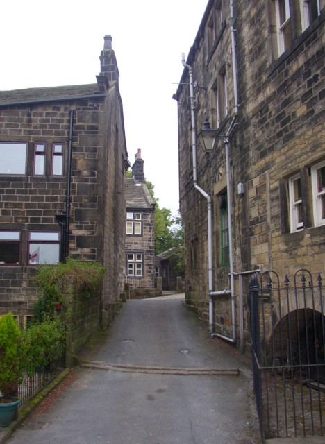 Entrance to the central car park, Heptonstall
