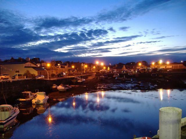 Castletown inner harbour, a summer's night