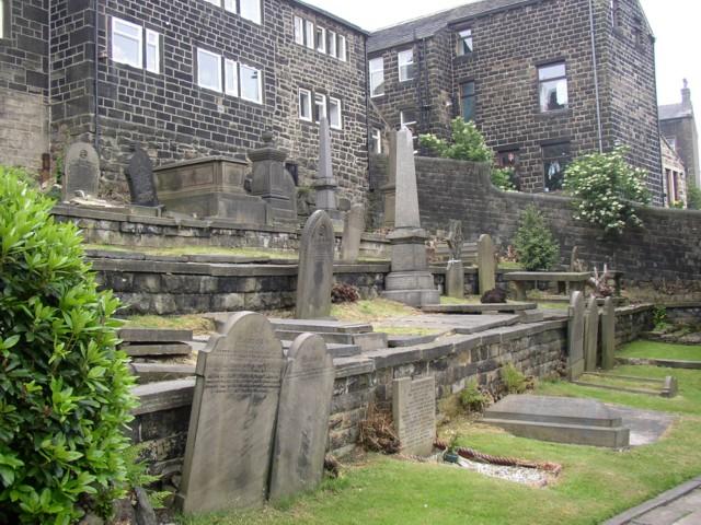 Grave stones and memorials in the Methodist graveyard