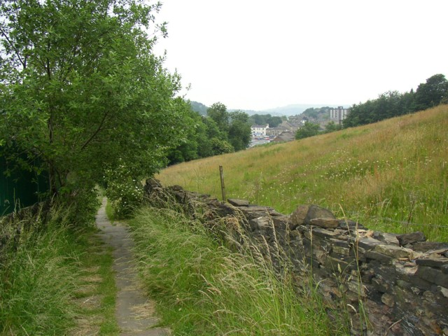 Footpath from Gledholt Bank to Springwood, Marsh (Huddersfield)