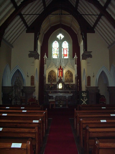 Interior of St Charles RC Church, Grange-Over-Sands