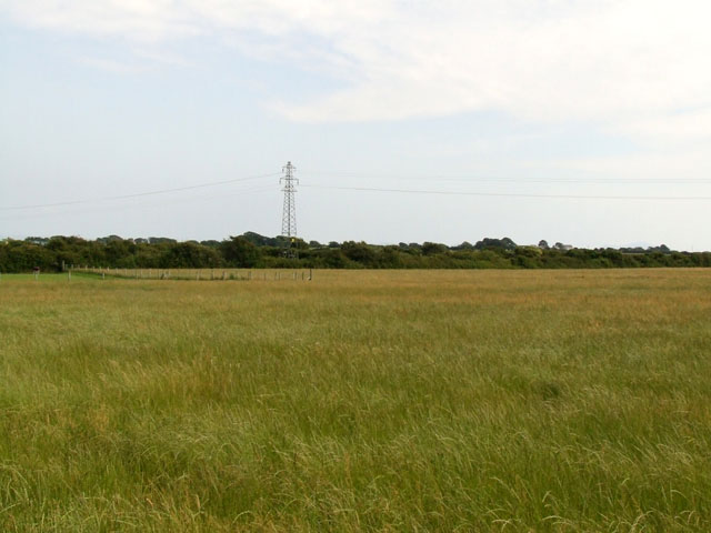 Field with pylon near to Bryngwran
