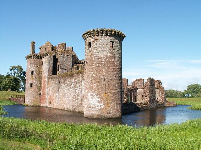 Caerlaverock Castle and Moat