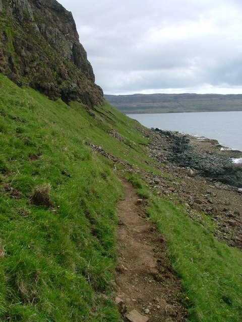 Footpath below the Fionn Aoineadh