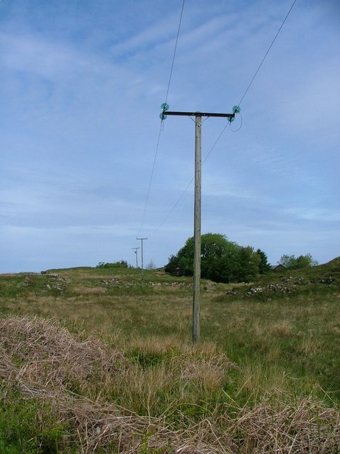 Electricity Poles Heading North Towards Rubha Mor