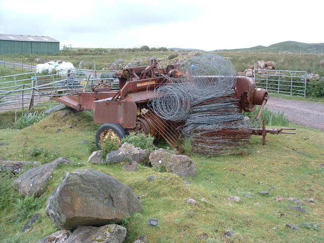 Retired hay baling machine