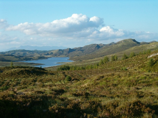 View towards Loch Gaineanhach and Sidh Mor