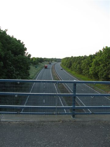 The A19 dual carriageway from the overbridge into Craythorne