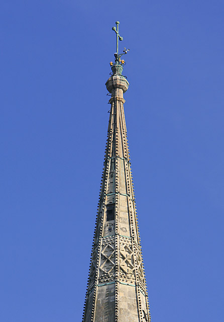 The top of the spire, Salisbury Cathedral