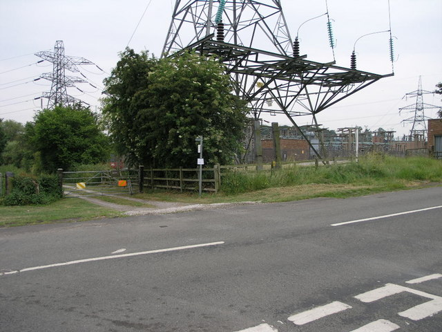 Footpath and Sub-Station
