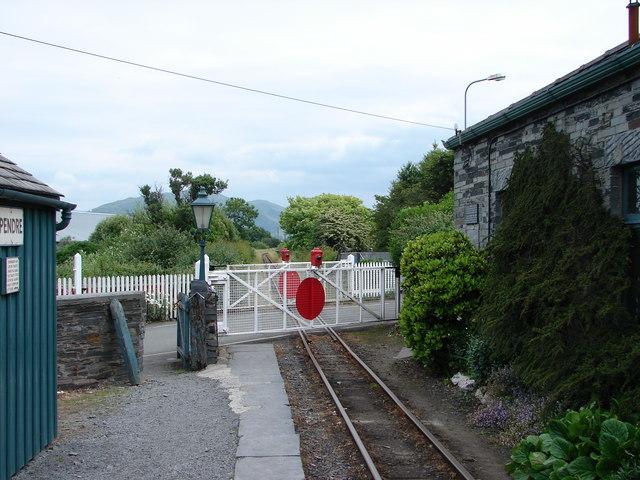 Level Crossing, Pendre Halt, Talyllyn Railway