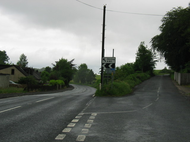 Stirling road after Balloch.