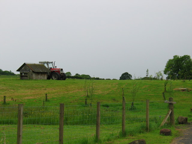 Little Finnary, farmland and agriculture tractor.