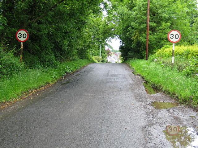 Speed signs entering Gartocharn.