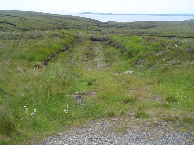 Peat track leading into moorland east of B895