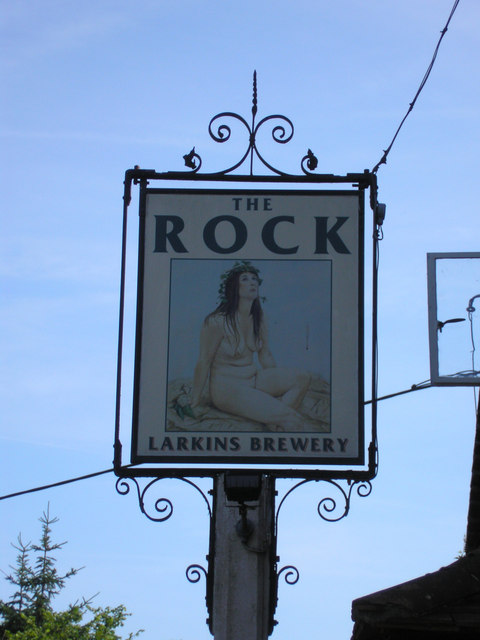 Public house sign, 'The Rock', Hoath Corner
