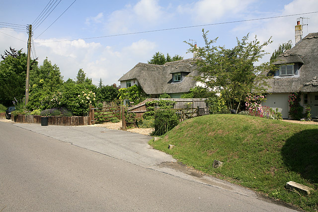 Thatched Cottages along Homington Road, Coombe Bissett