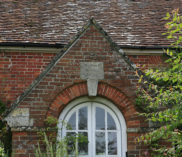Detail of The Croft, Homington Road, Coombe Bissett