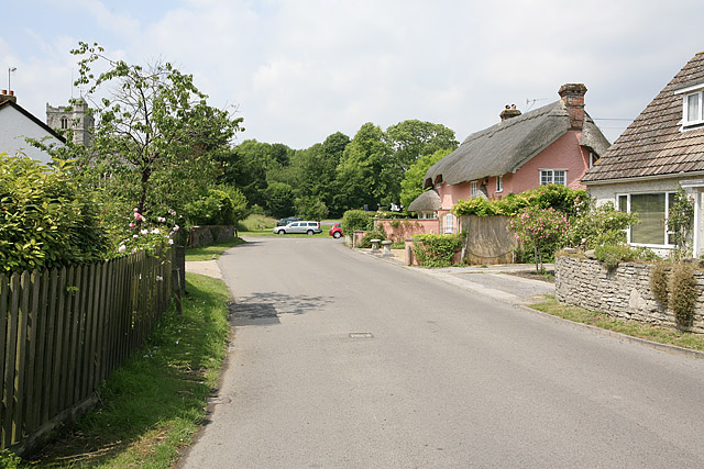 End of Homington Road, Coombe Bissett