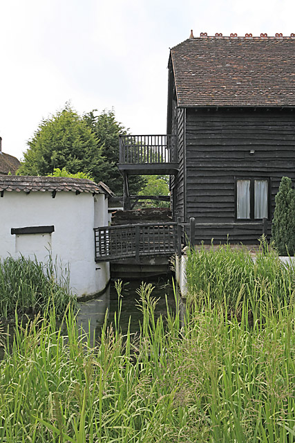 Detail of old mill on A354 at Coombe Bissett