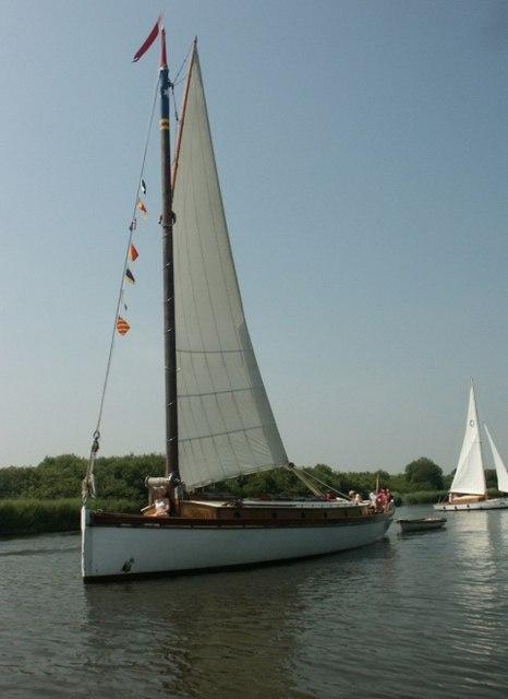 Wherry Yacht White Moth, River Bure