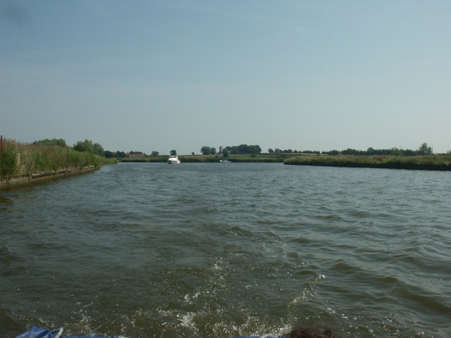 Thurne Mouth, looking downstream on the Bure