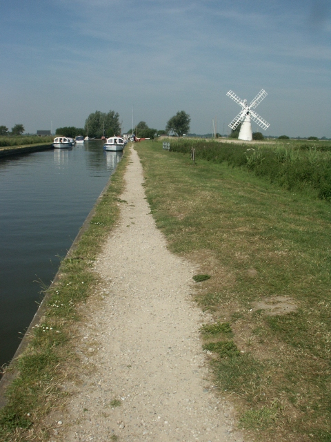Thurne Dyke and its drainage mill