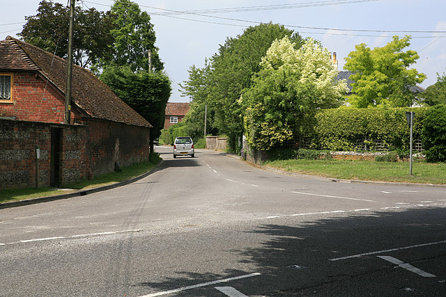 Road to Stratford Tony from A354 at Coombe Bissett