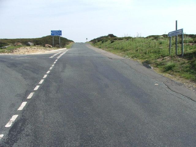 Road Junction at Lamb Fold Hill.