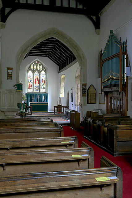 Interior of church of St Michael & All Angels, Coombe Bissett