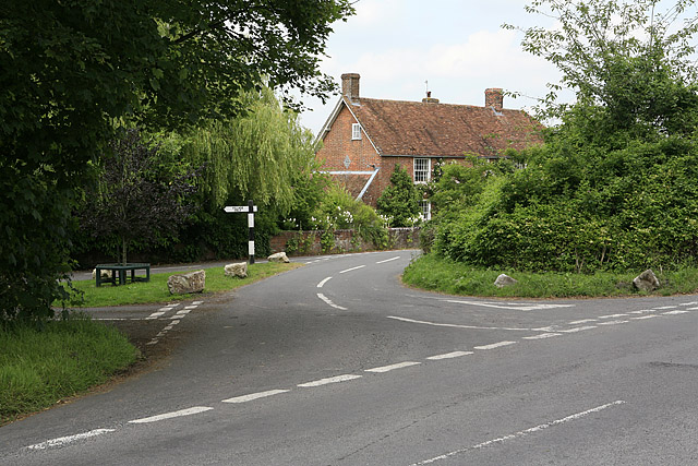 Entrance to Homington village from the Odstock to Coombe Bissett road