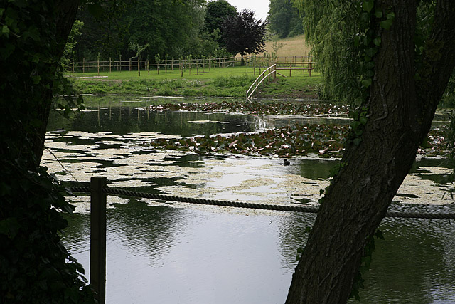 Substantial pond at Homington Down house