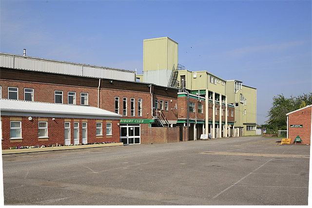 Main buildings at Salisbury Racecourse