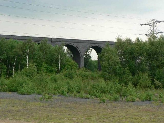 Disused railway viaduct, Calder Grove near Wakefield