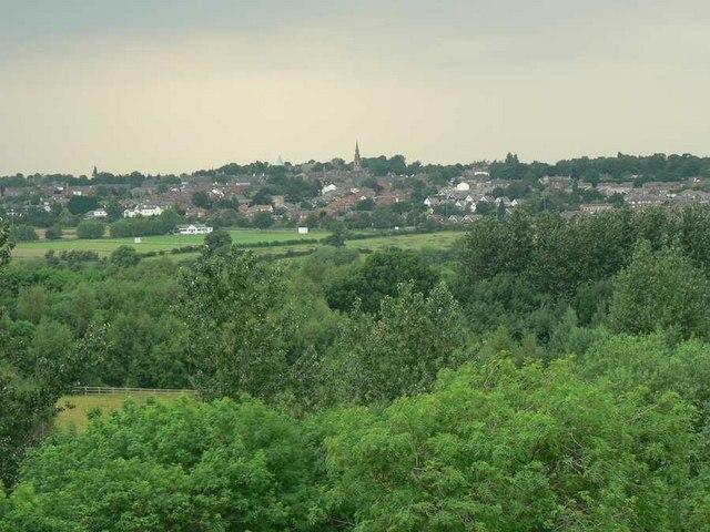 View towards Horbury from railway viaduct, Calder Grove