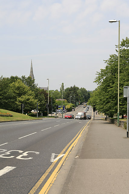 Approaching Salisbury city from the south