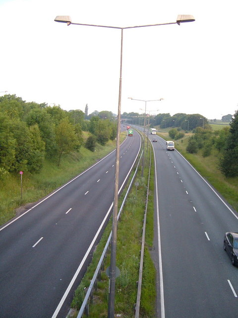 A500 near Audley