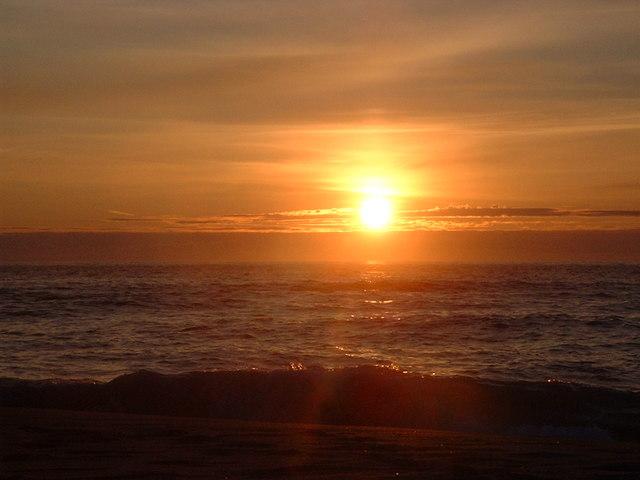 Sunset on Sandwood Bay